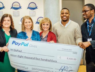 PayPal Gives €110,000 to Irish charities in the last year