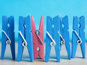 Blue and ping pegs all-male panels