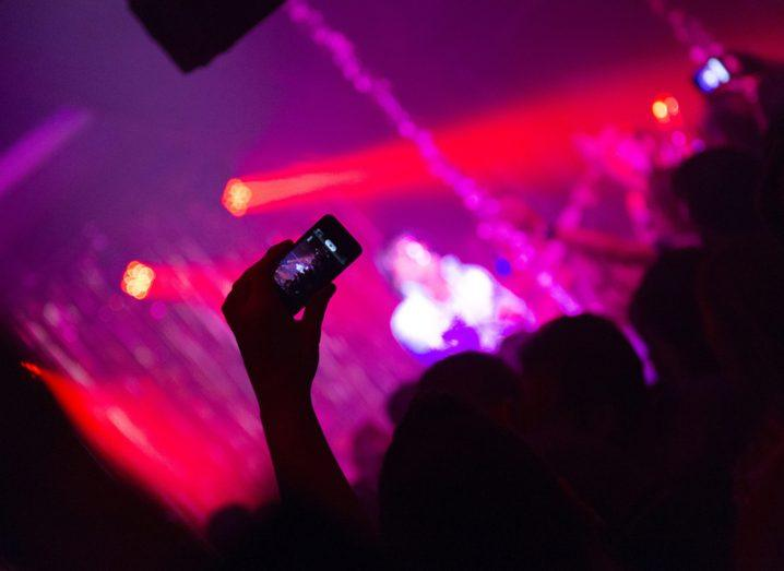 Phone at a concert