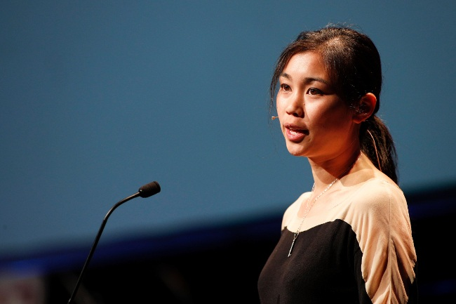Tracy Chou speaking at Inspirefest. Image: Conor McCabe Photography