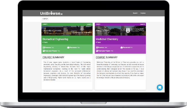 UniBrowse will send students on the right course to reduce college drop-out rates