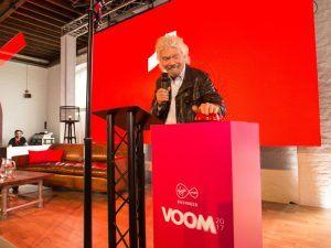 Branson kicks off Virgin Voom tour