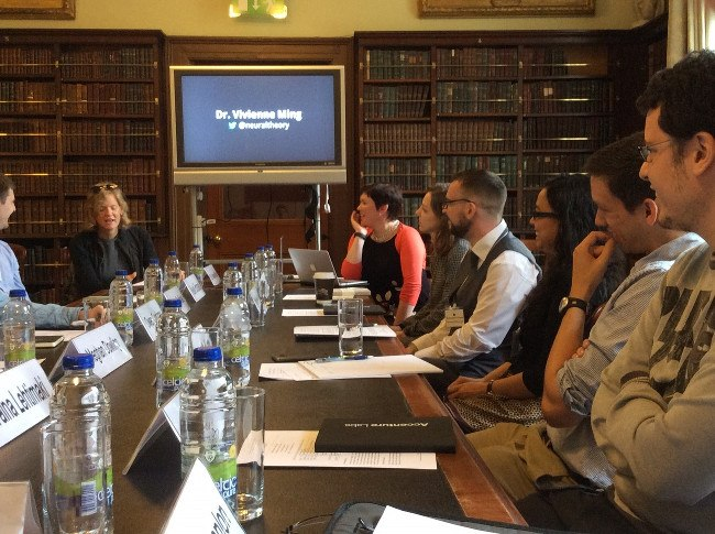 Dr Vivienne Ming hosts a masterclass facilitated by Dr Claire O'Connell at the Royal Irish Academy