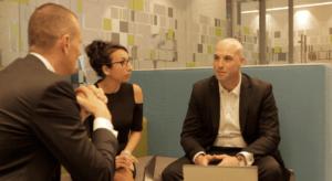 Harry Goddard, Lucia Navaza and Ruairi Allen at Deloitte