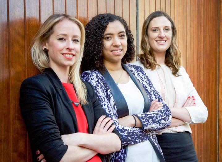 GirlCrew Co-founders: (l-r)Elva Carri, Áine Mulloy and Pamela Newenham