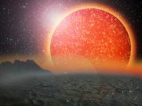 Unusual exoplanet with Jupiter-like mass discovered orbiting giant star