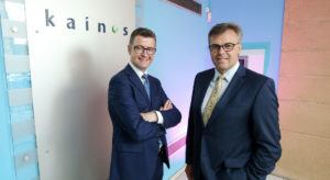 Brendan Mooney, CEO of Kainos and Alastair Hamilton, CEO of Invest NI. Image: InvestNI