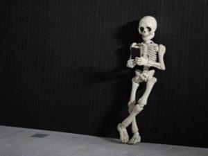 Skeleton mobile phone