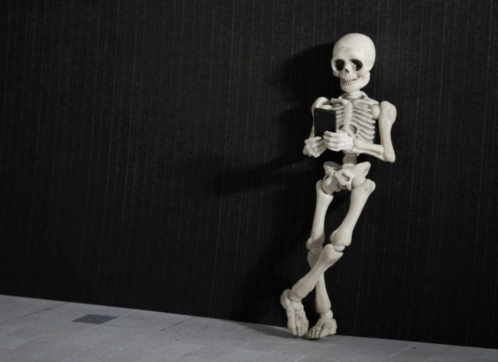 Skeleton mobile phone