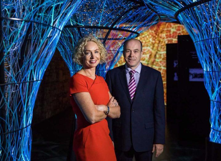 Vodafone Ireland CEO Anne O'Leary with Communications Minister Denis Naughten, TD. Image: Vodafone