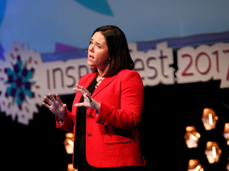 Dr Anita Sands speaking at Inspirefest 2017. Image: Conor McCabe Photography