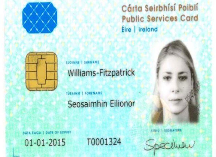 Public Services Card.