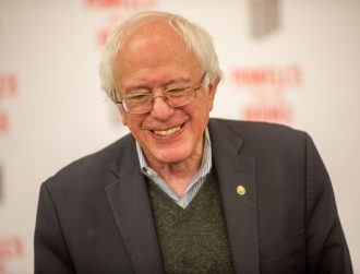 Bernie Sanders is making a comeback as a smiley spider