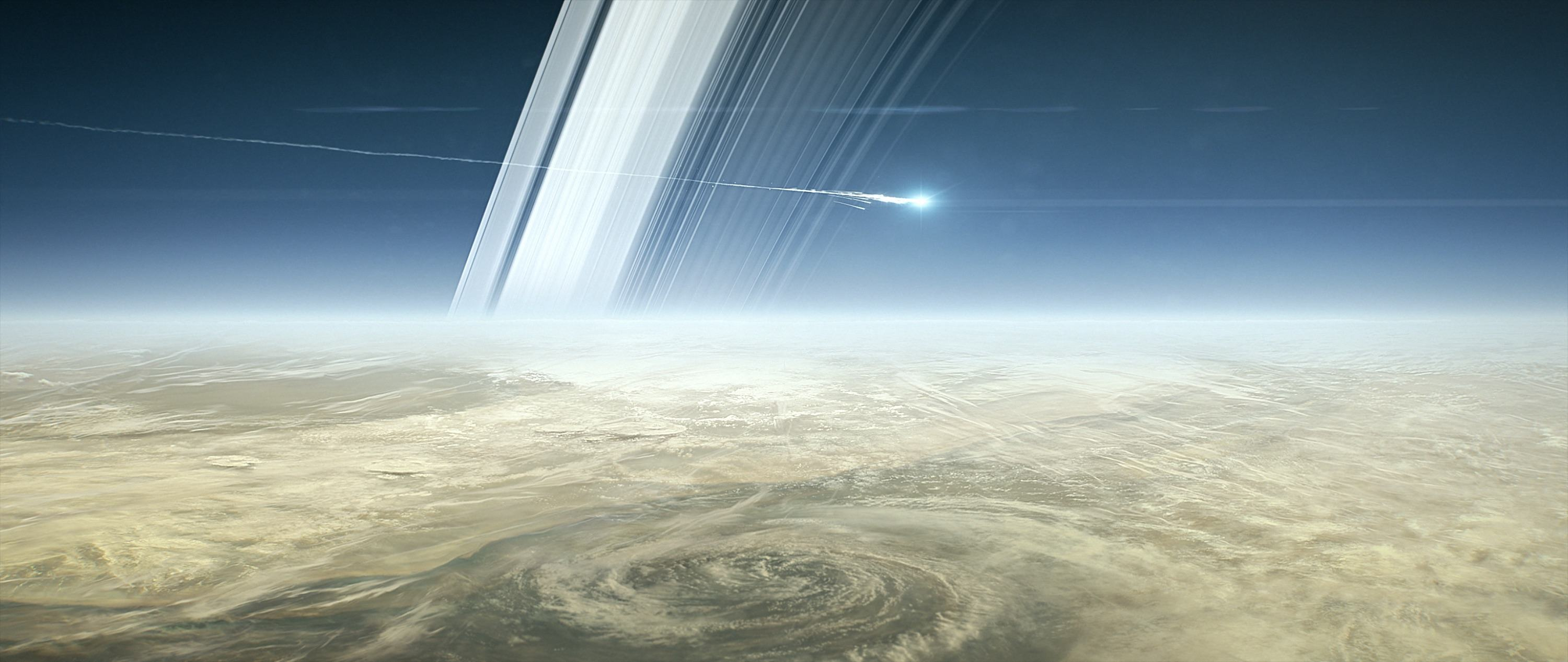 llustration of Cassini breaking up in Saturn's atmosphere. Image: NASA/JPL-Caltech