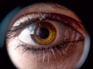 Eye through a keyhole