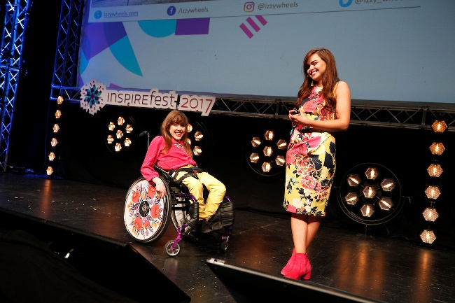 Izzy Keane and Ailbhe Keane at Inspirefest 2017