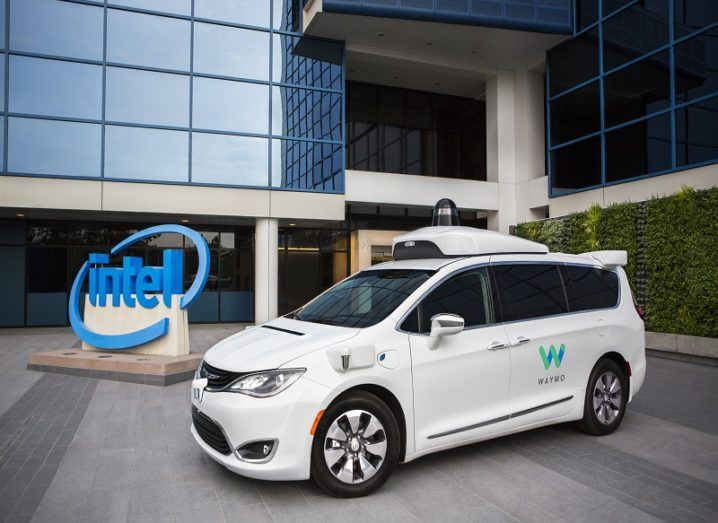 Intel Waymo minivan