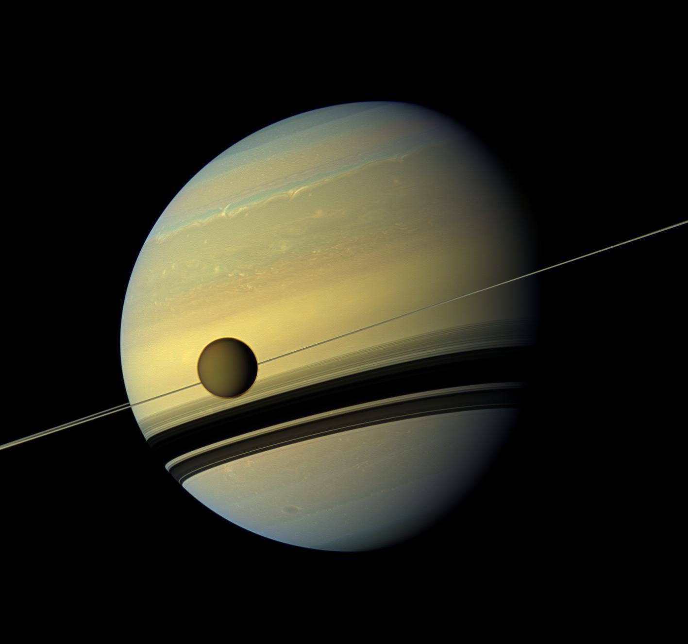 Saturn and Titan