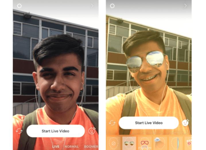 Instagram live filters