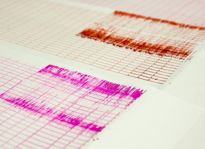 Seismograph readings