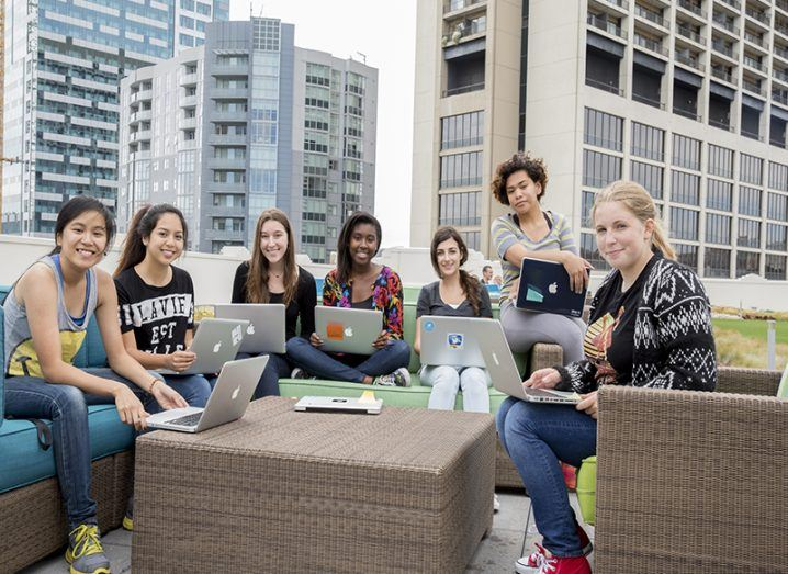 Girls Who Code participants