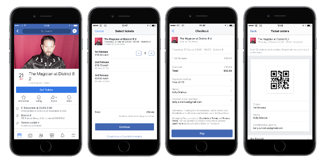 You can now buy Eventbrite tickets directly on Facebook