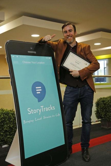 StoryTracks founder Fergal Nealon was awarded Best Pitch at the DCU UStart Demo Day. Image: Nick Bradshaw