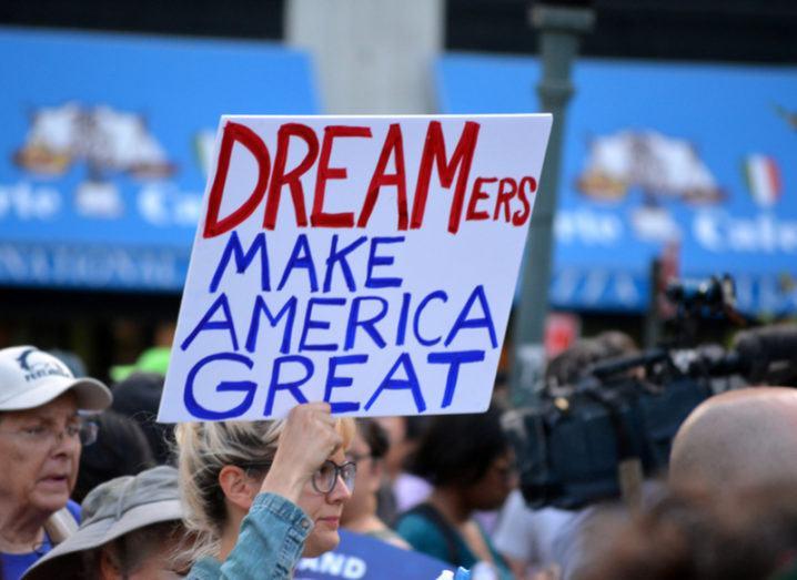 Pro-Dreamers protestor