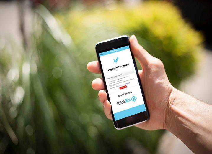 IBM blockchain technology on phone