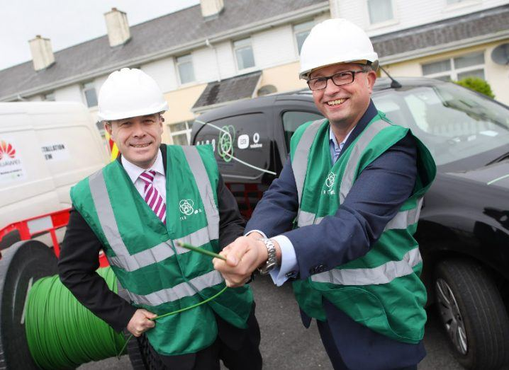 From left: Minister Denis Naughten and Siro CEO Sean Atkinson.