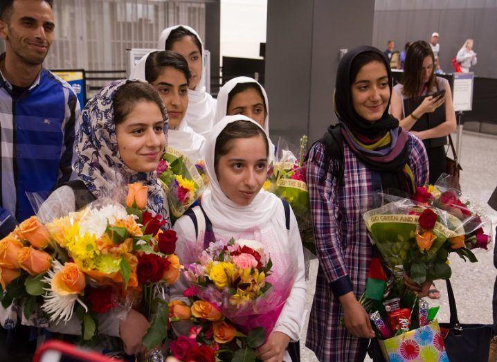 Afghan girls' robotic team