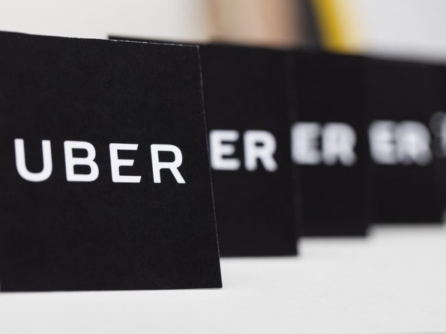 Uber signs