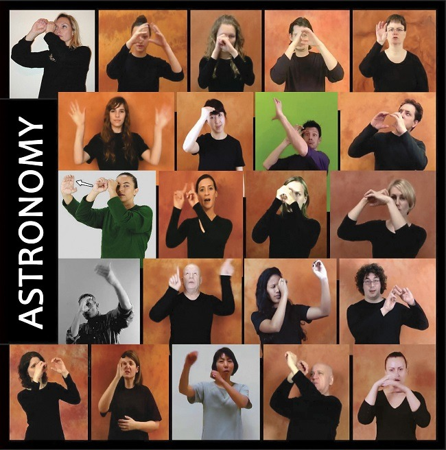 Astronomy in sign language
