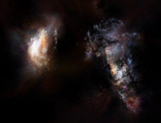 Vast oceans of mysterious dark matter found in huge primordial galaxies