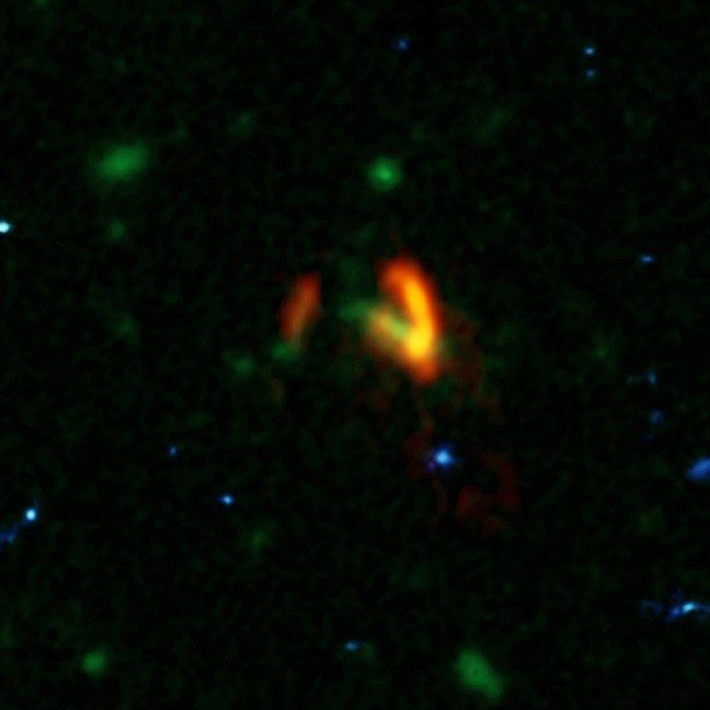 ALMA shot of galaxies