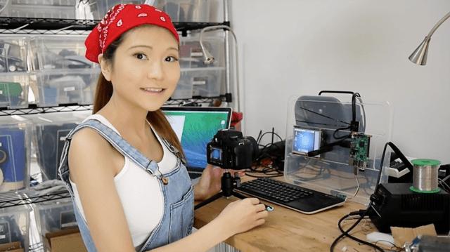 Chinese Maker Naomi Wu (AKA SexyCyborg) configures a Raspberry Pi 2. Image: Naomi Wu/Wikimedia Commons (CC BY-SA 4.0)