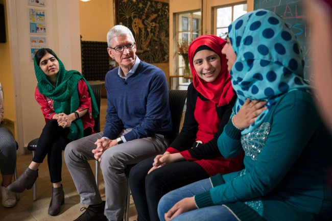 Apple to support Malala Fund's goal of educating 100000 girls