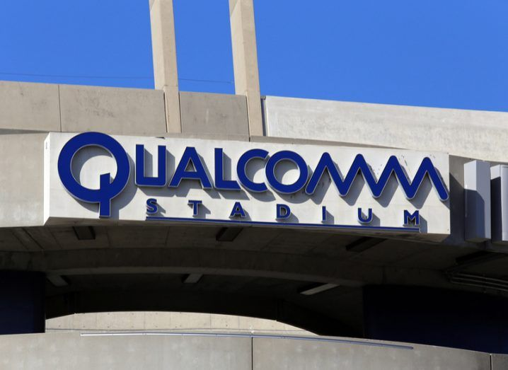 Qualcomm logo at Qualcomm Stadium in San Diego Image: Katherine Welles/Shutterstock