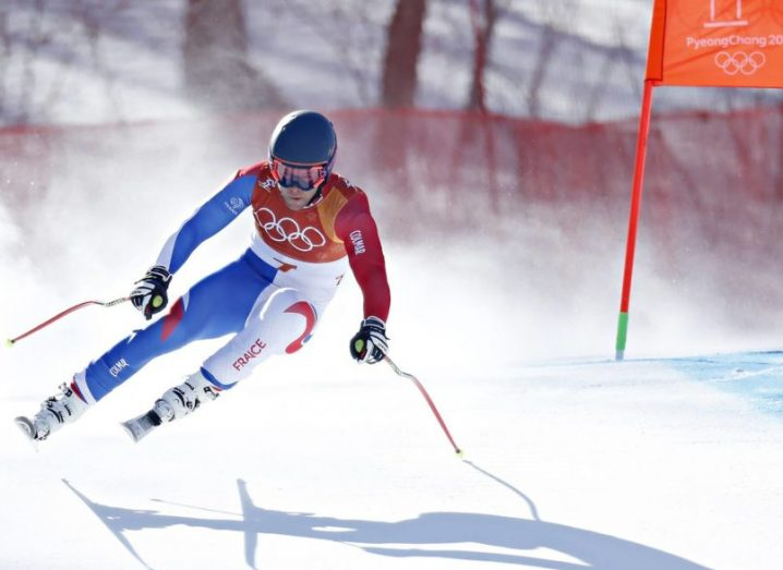 French alpine skier in Pyeongchang