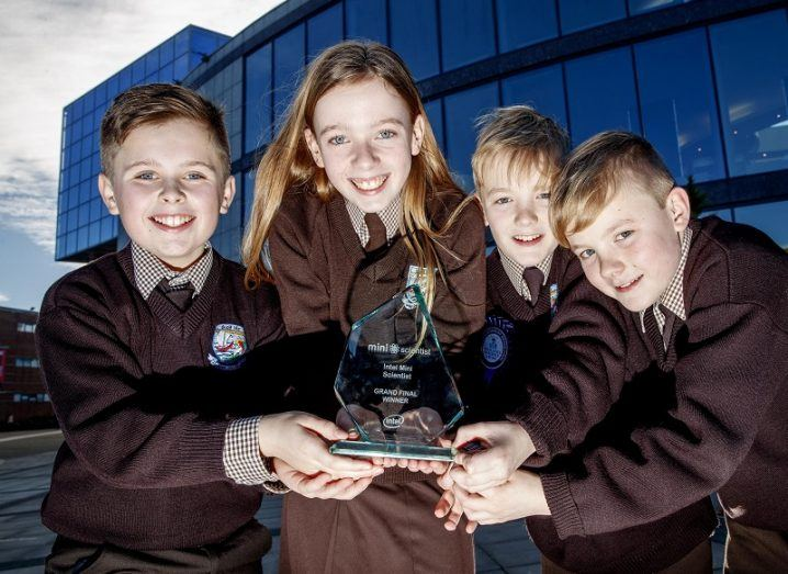 Limerick students' robot footballer wins grand prize at Intel Mini Scientist