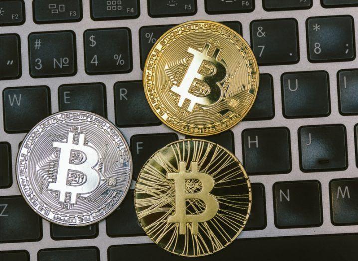 3D illustration of bitcoin