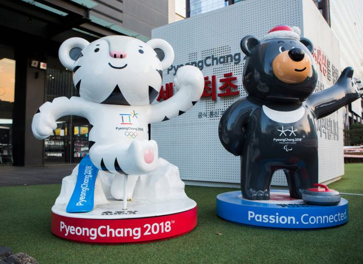 Winter Olympics mascots in Pyeongchang.