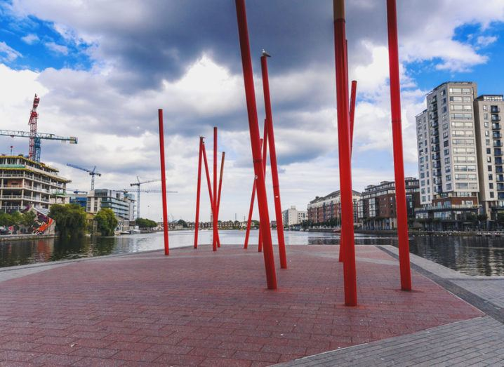 Grand Canal Dock, the location of Facebook's EMEA HQ