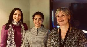 Fernanda Do Carmo, Neha Katoch and Andrea Crofts from Mastercard Ireland