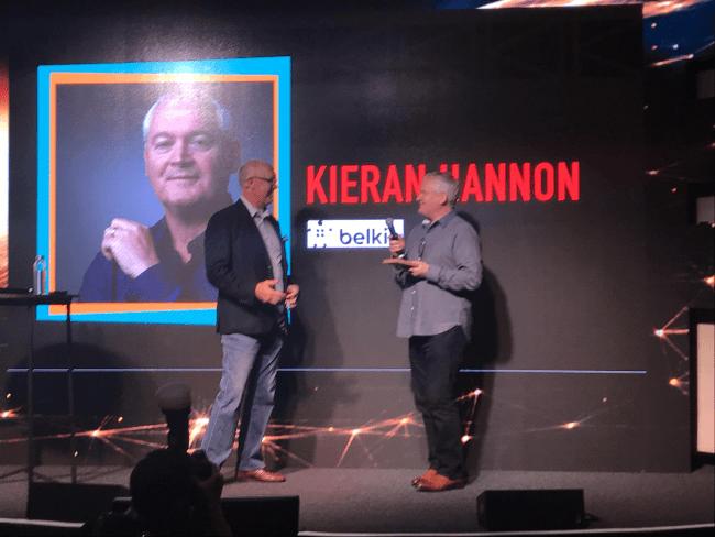 Belkin's Kieran Hannon picks up marketing award at SXSW