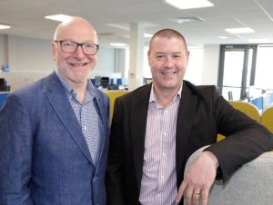 CTO of Esri Ireland and Paul Synott, director and country manager at Esri Ireland.