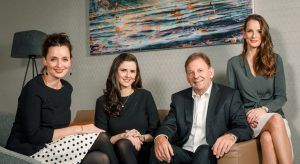 From Left: Fiona, Rebecca, Michael and Clare Kelly. Image: Glandore