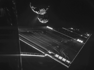 Incredible GIF snapped by Rosetta shows a turbulent comet snowstorm