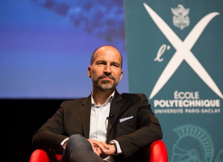 Uber CEO Dara Khosrowshahi pictured in 2018