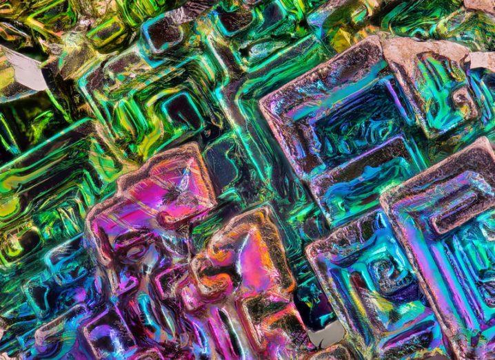 Bismuth close-up